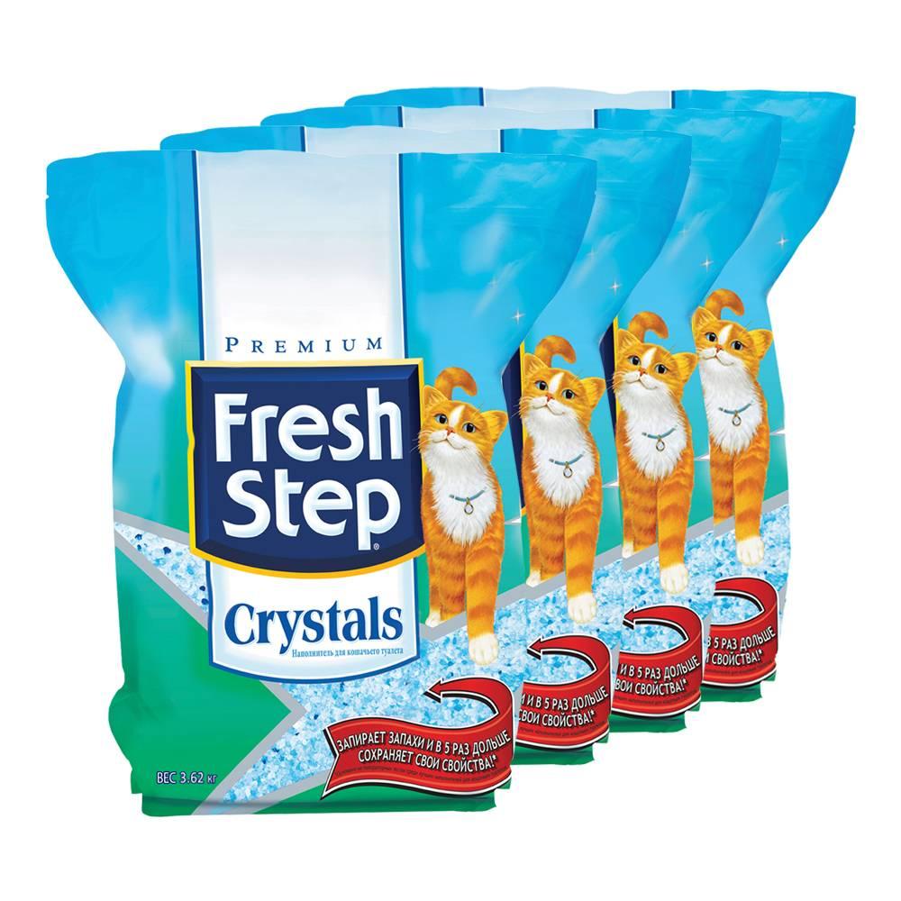 Наполнитель для кошачьего туалета fresh step: обзор и отзывы