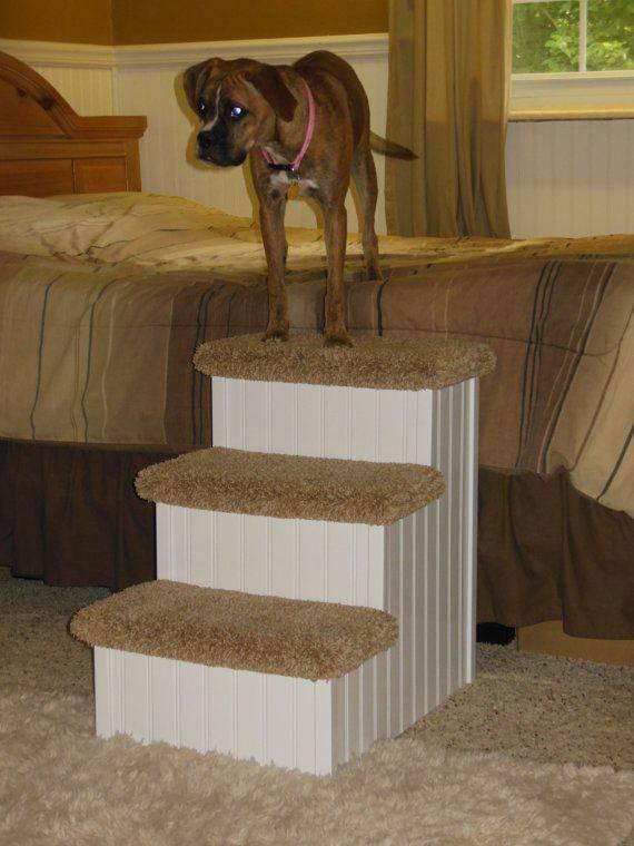 Как сделать ступеньки для собаки своими руками, лестница прикроватная