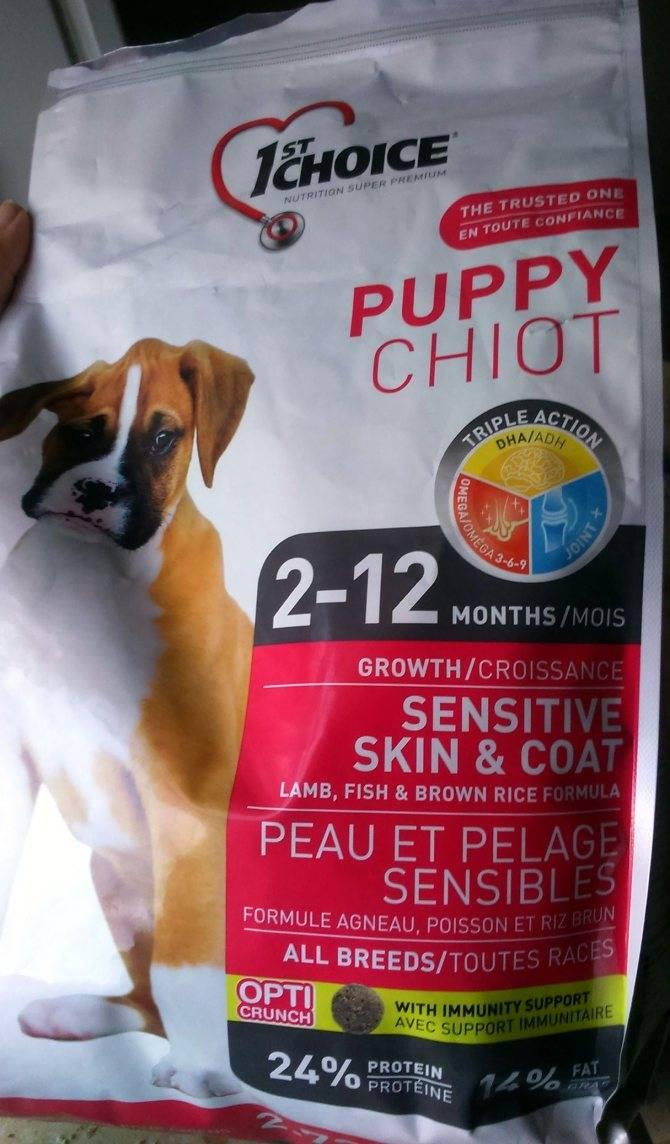 1st choice для собак — состав корма и отзыв ветеринара