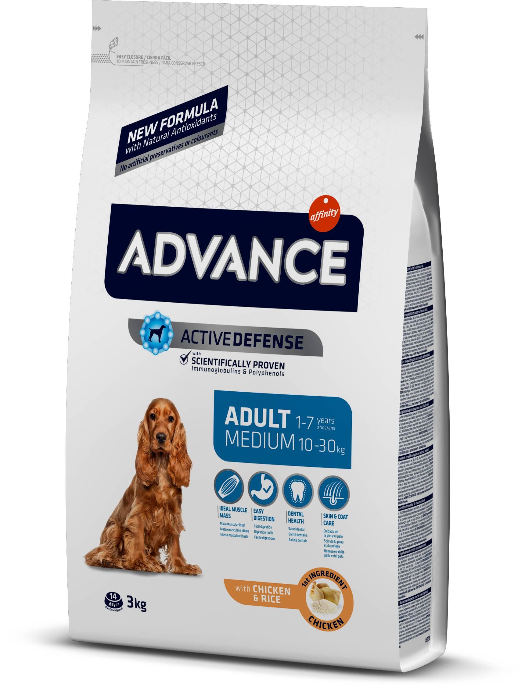 Сухой корм advance для собак