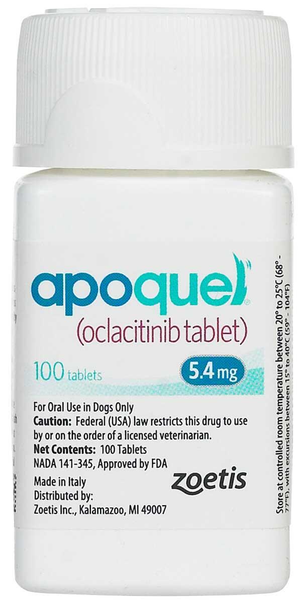 Апоквел для собак 5,4 мг 100 таблеток купить по выгодной цене на официальном сайте