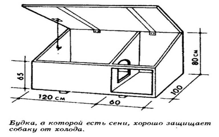 Будка для овчарки своими руками — инструкция с чертежами и размерами