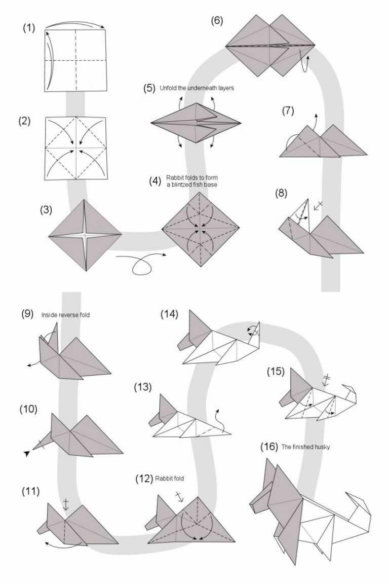 Оригами собака — схемы сборки, советы по выбору модели и обзор лучших поделок для детей и взрослых (105 фото)