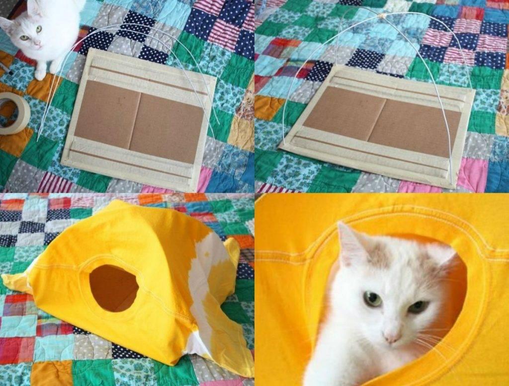 Домик для кошки своими руками из картонной коробки: пошаговая инструкция