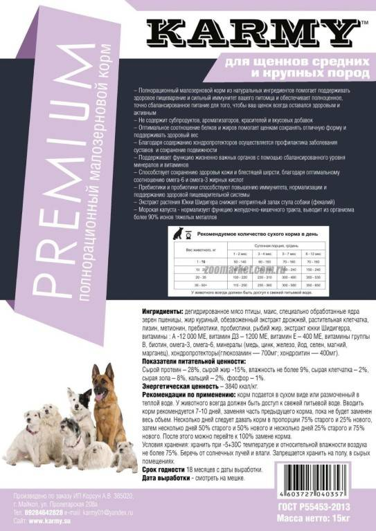 Корма премиум класса для собак: список, рейтинг, отзывы