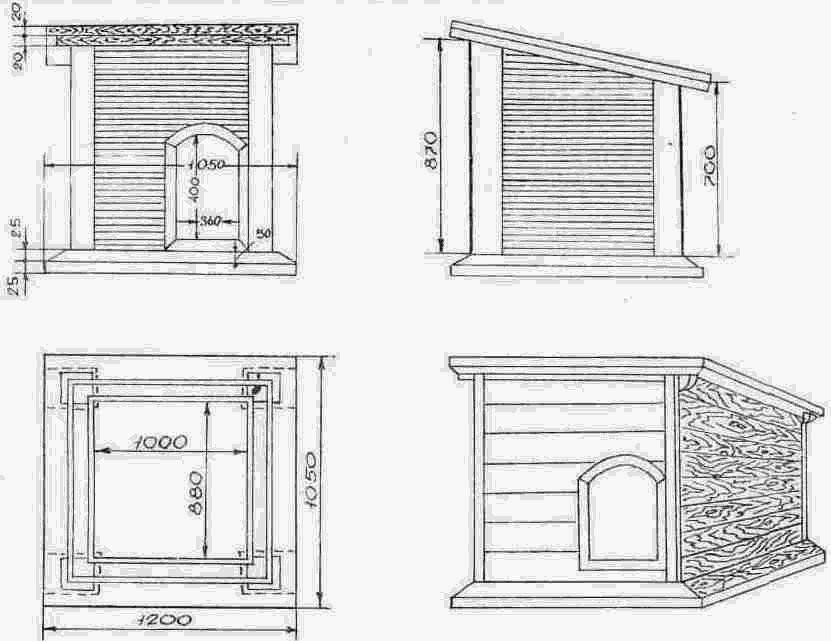 Особенности строительства будки для немецкой овчарки и алабая: размеры и чертежи для создания своими руками