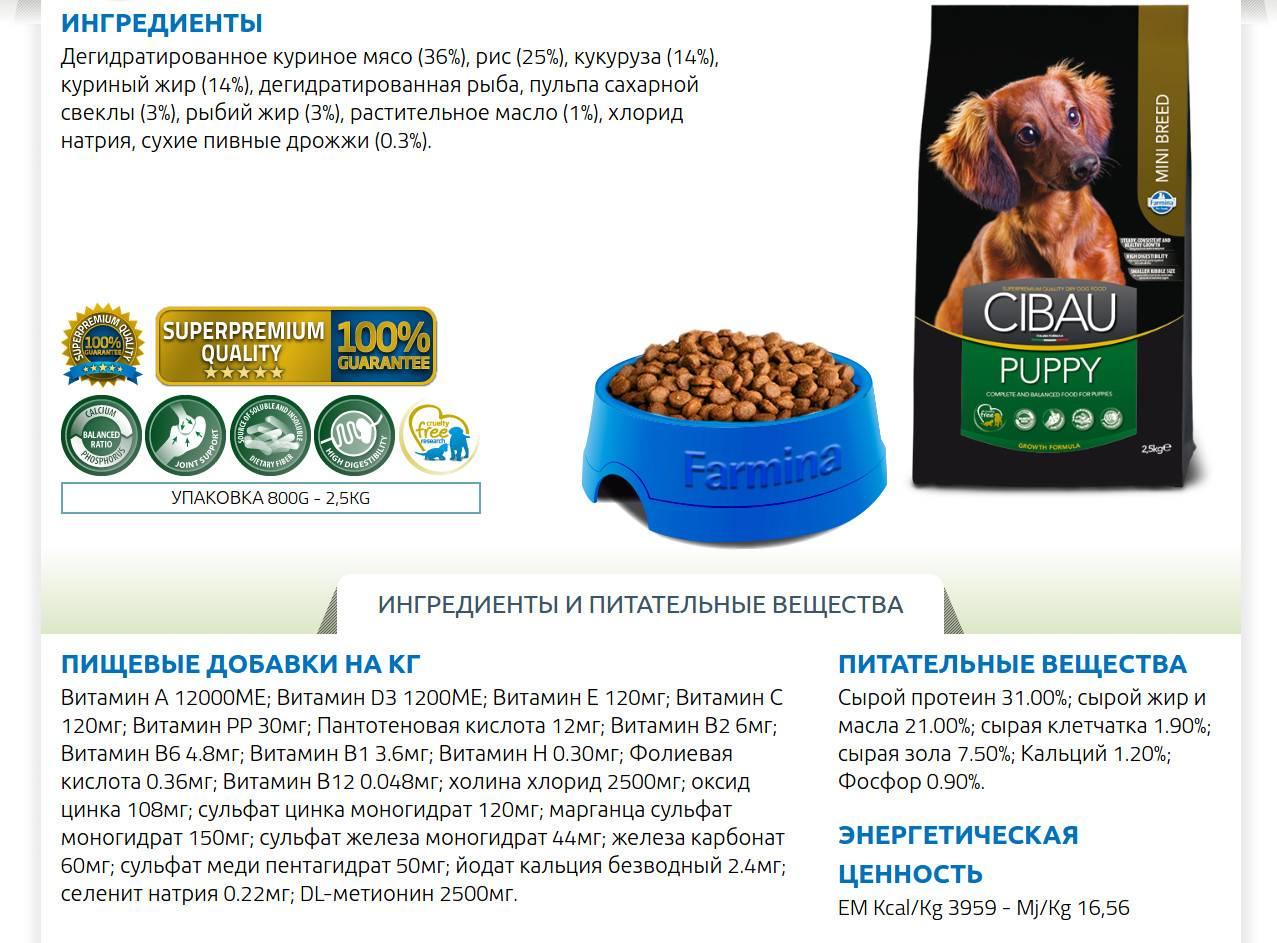 Корм n/d для собак: состав от фармина для разных пород