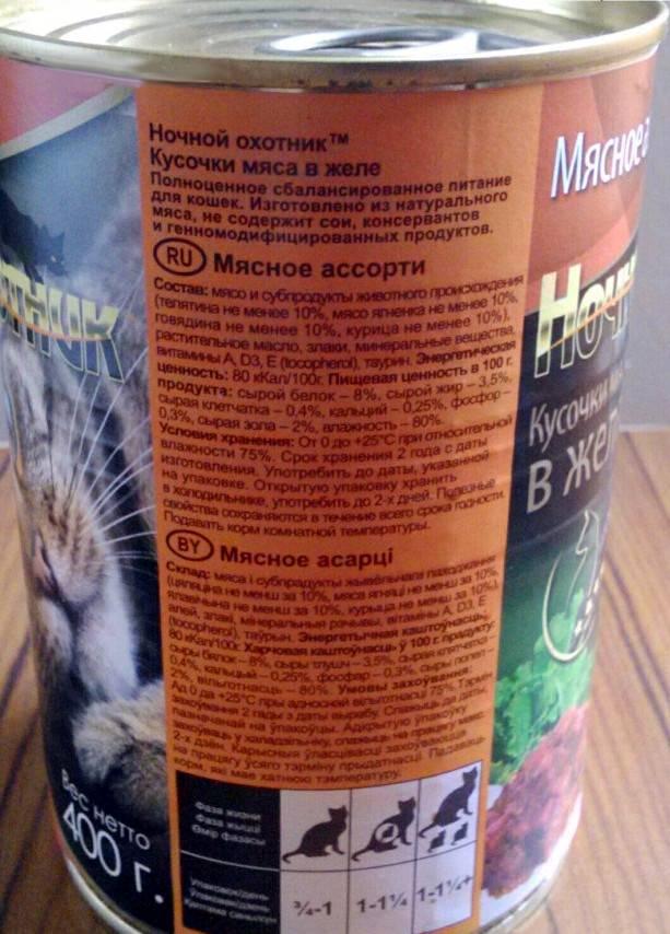 Ночной охотник: корм для кошек от отечественных производителей