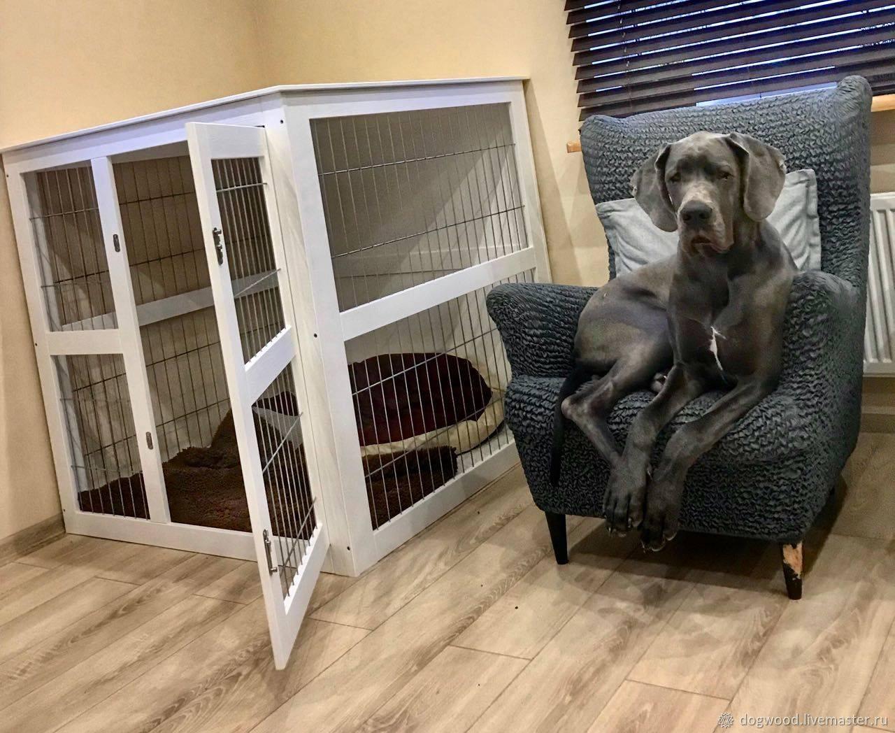 Клетка для собаки в квартиру — сделать своими руками