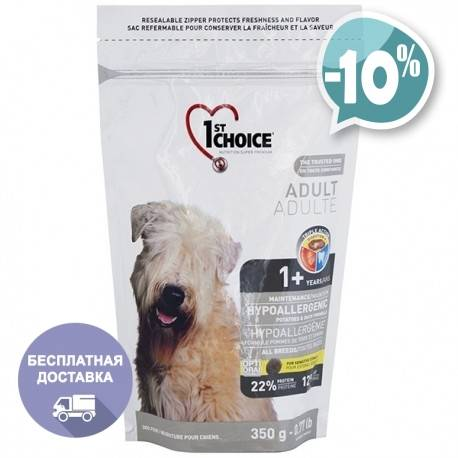 Корм для собак фест чойс (1st choice): отзывы, состав, цены
