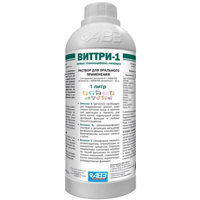 Особенности комплексного витаминного препарата виттри-1 для кошек