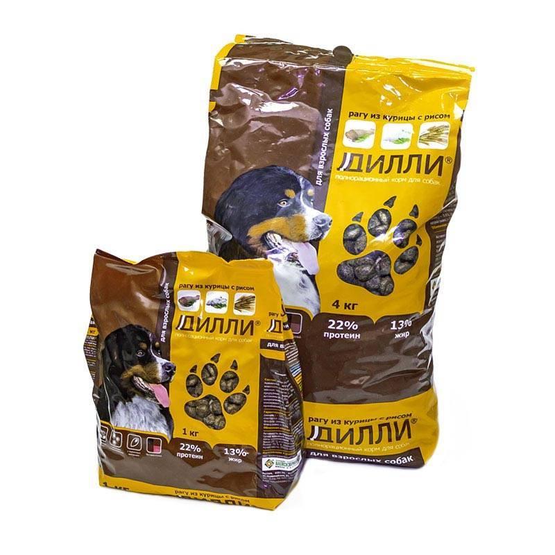 Сухой полнорационный корм для собак «дилли» — аргус