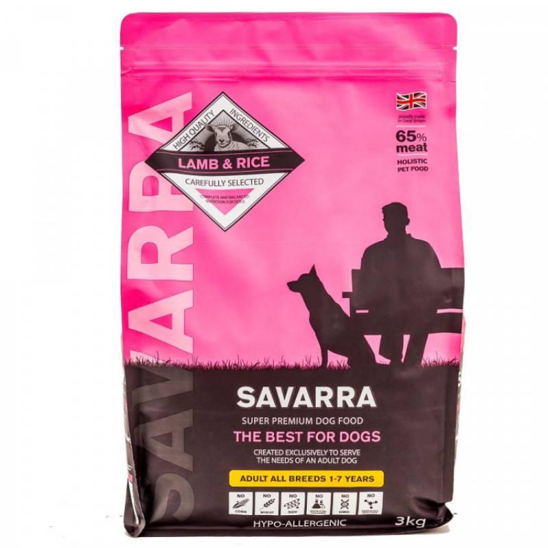 Савара (savarra) корм для собак: отзывы, состав и цен