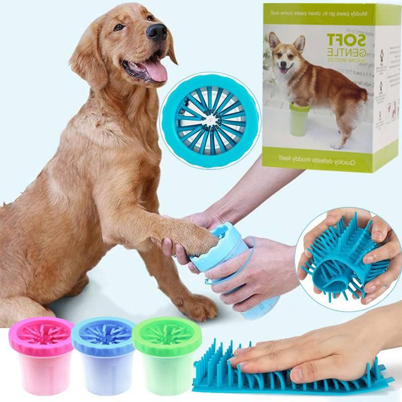 Как работает лапомойка и можно ли сделать ее для собаки своими руками