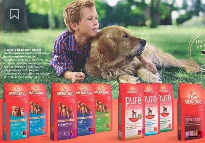 """Корм для собак """"мерадог"""": состав, виды корма, инструкция по кормлению, дозировка и отзывы"""
