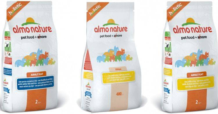 Обзор и описание линейки кормов для кошек «almo nature» («альмо натюр»)