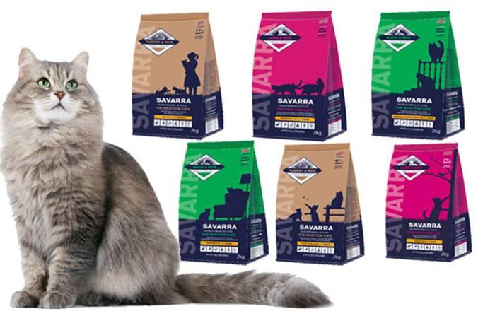 Корм для кошек savarra — плюсы и минусы