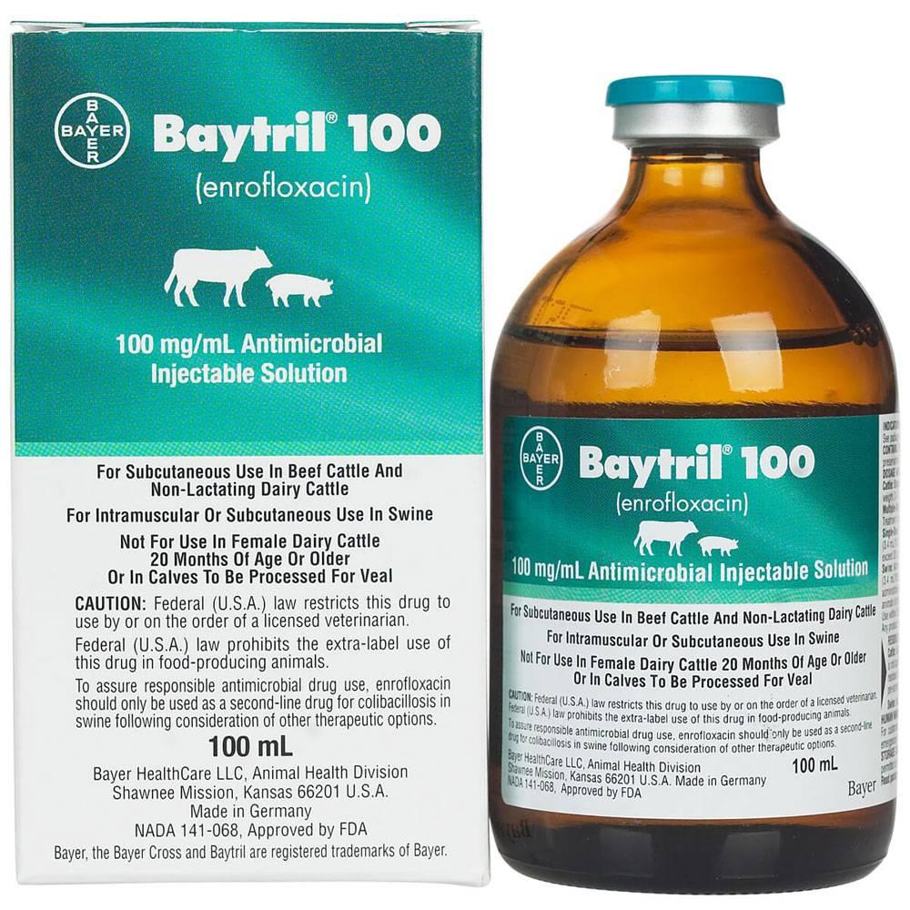 Байтрил 2.5 5 10 для кошек и собак инструкция по применению антибиотика  байтрила в ветеринарии дозировка отзывы