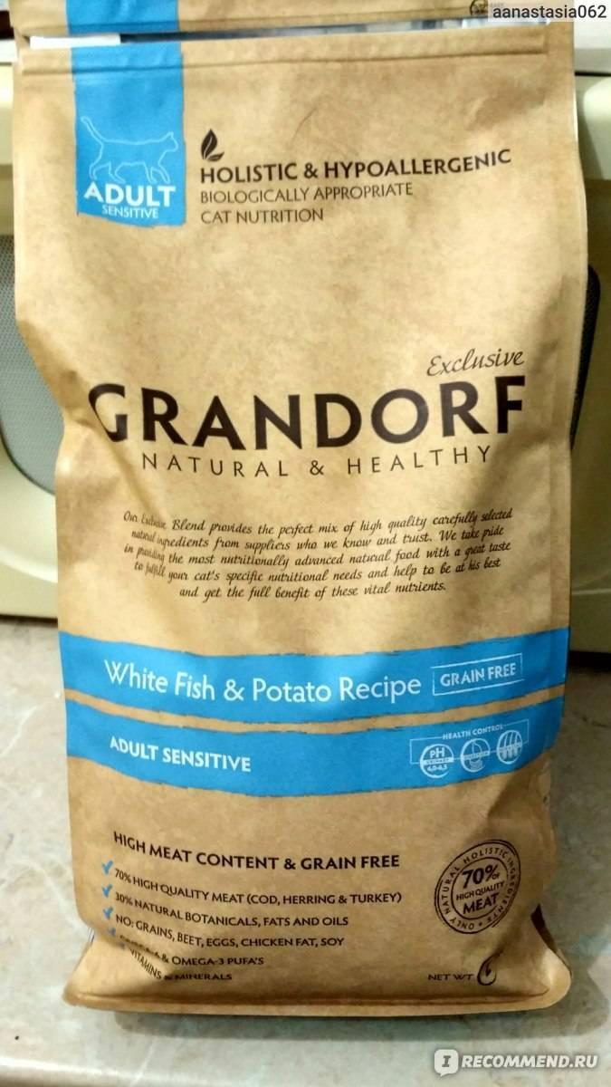 Корм грандорф (grandorf) для кошек   состав, цена, отзывы
