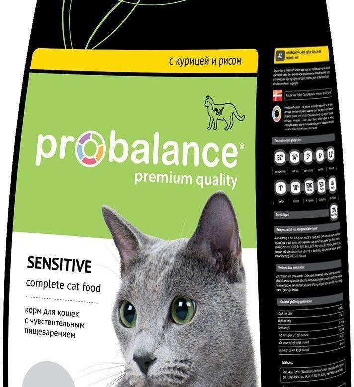 Корм пробаланс для кошек: состав, плюсы и минусы