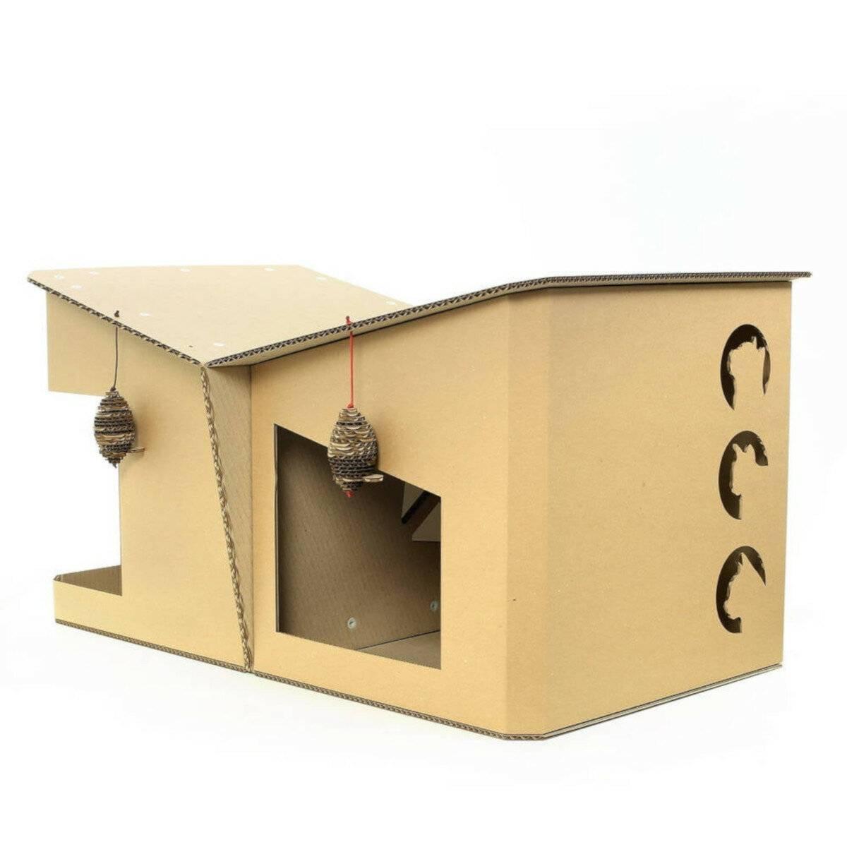 Домик для кошки своими руками: описание моделей, чертежи и инструкции по изготовлению