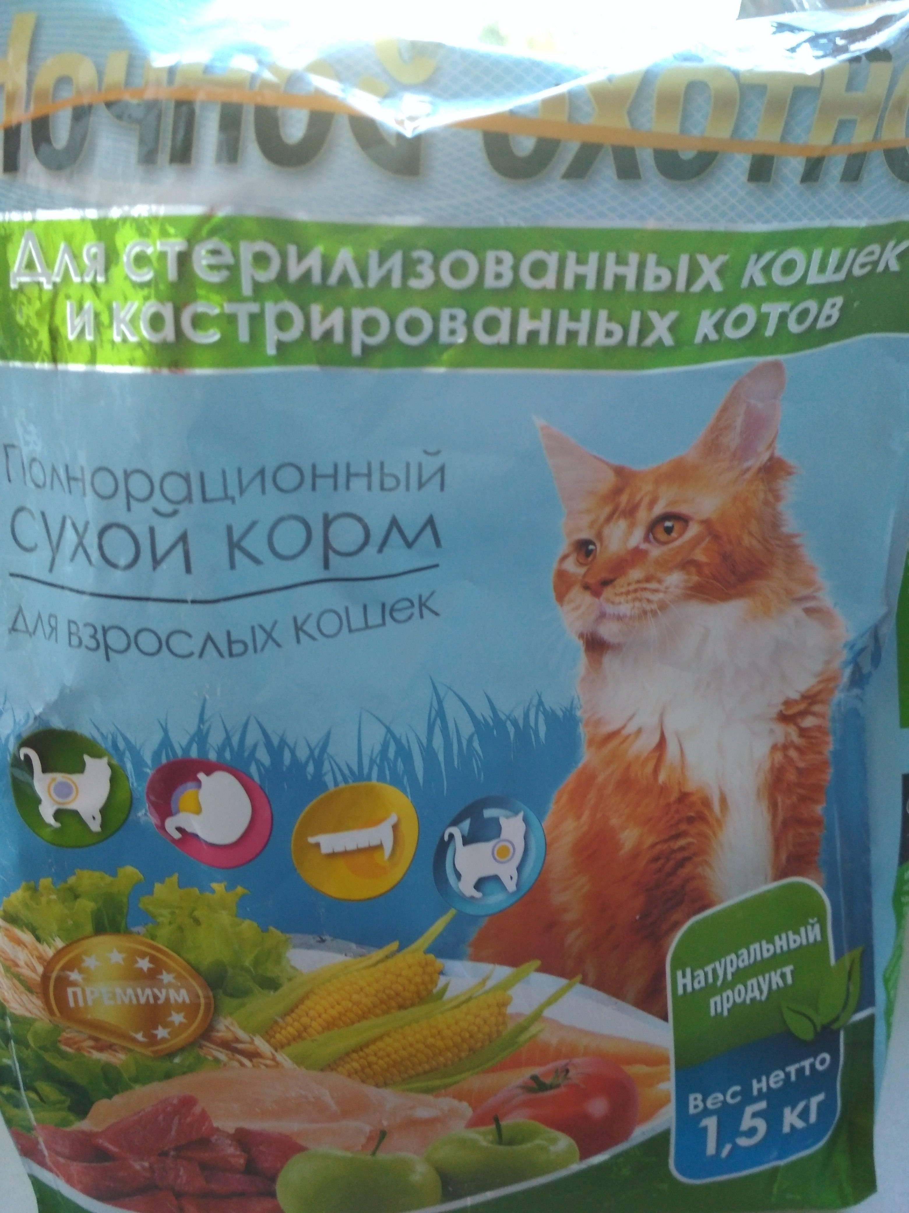 Корм для кошек ночной охотник: обзор, виды, отзывы