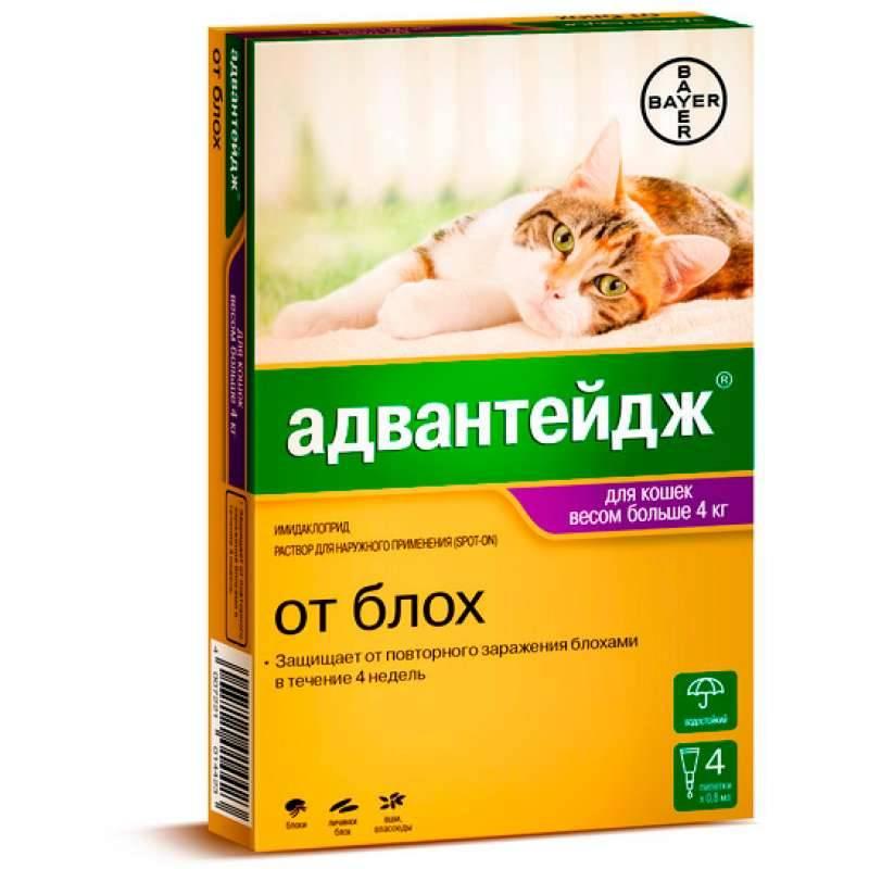 Адвантейдж для кошек до 4 кг, упак. 4 пипетки