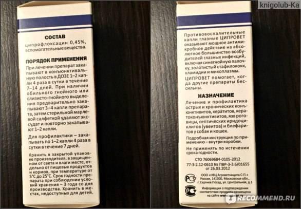 Ципровет (глазные капли) для кошек и собак | отзывы о применении препаратов для животных от ветеринаров и заводчиков