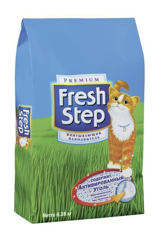 Наполнитель для кошачьего туалета фреш степ (fresh step): преимущества и недостатки, стоимость и отзывы владельцев