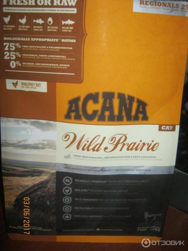 Корм для кошек акана (acana): отзывы и анализ состава