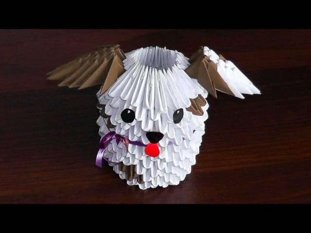 Схема сборки оригами собаки: 110 фото, видео мастер-класс и обзор этапов сборки бумажной собачки