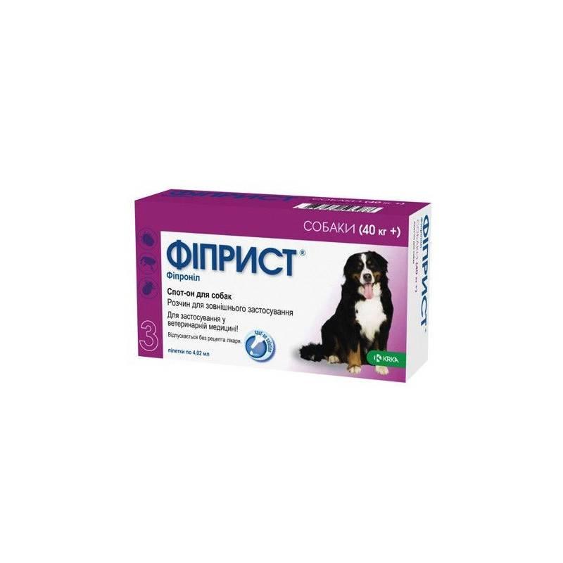 Фиприст для собак: инструкция по применению, цена, отзывы