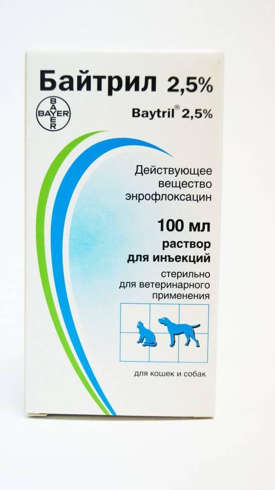 Препарат bayer байтрил для инъекций 100 мл, 2.5 %, для инъекций