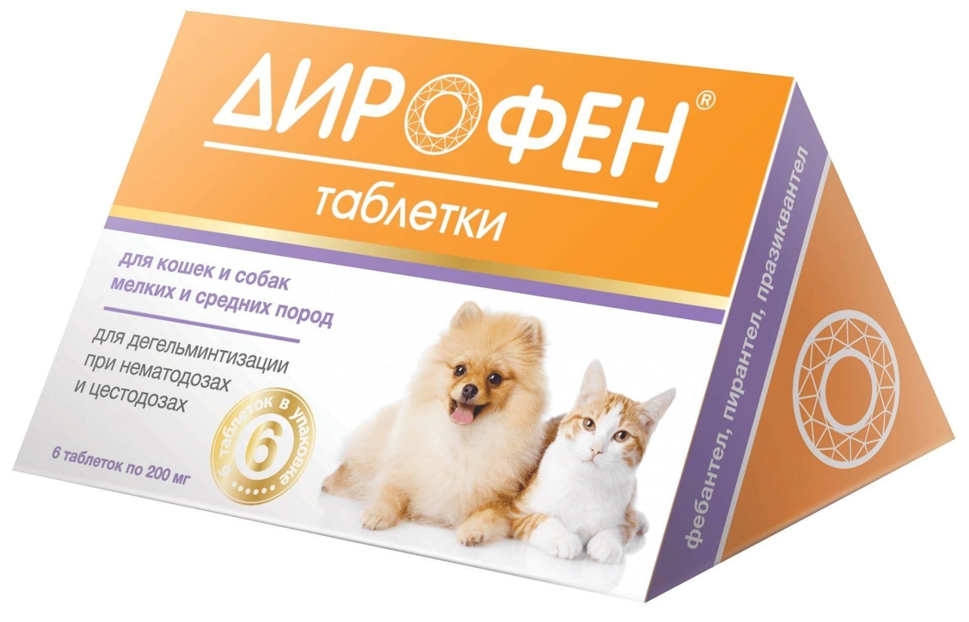 Дирофен-суспензия 60 для взрослых собак и кошек, 10 мл