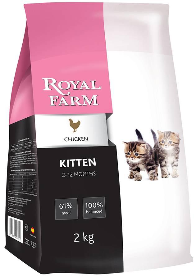 Корм роял фарм (royal farm) для кошек