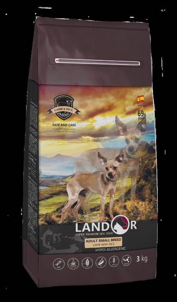 Корм для собак landor: отзывы, разбор состава, цена