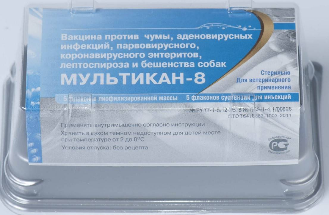 Вакцина мультикан (4, 6, 8): инструкция по применению для собак, цена