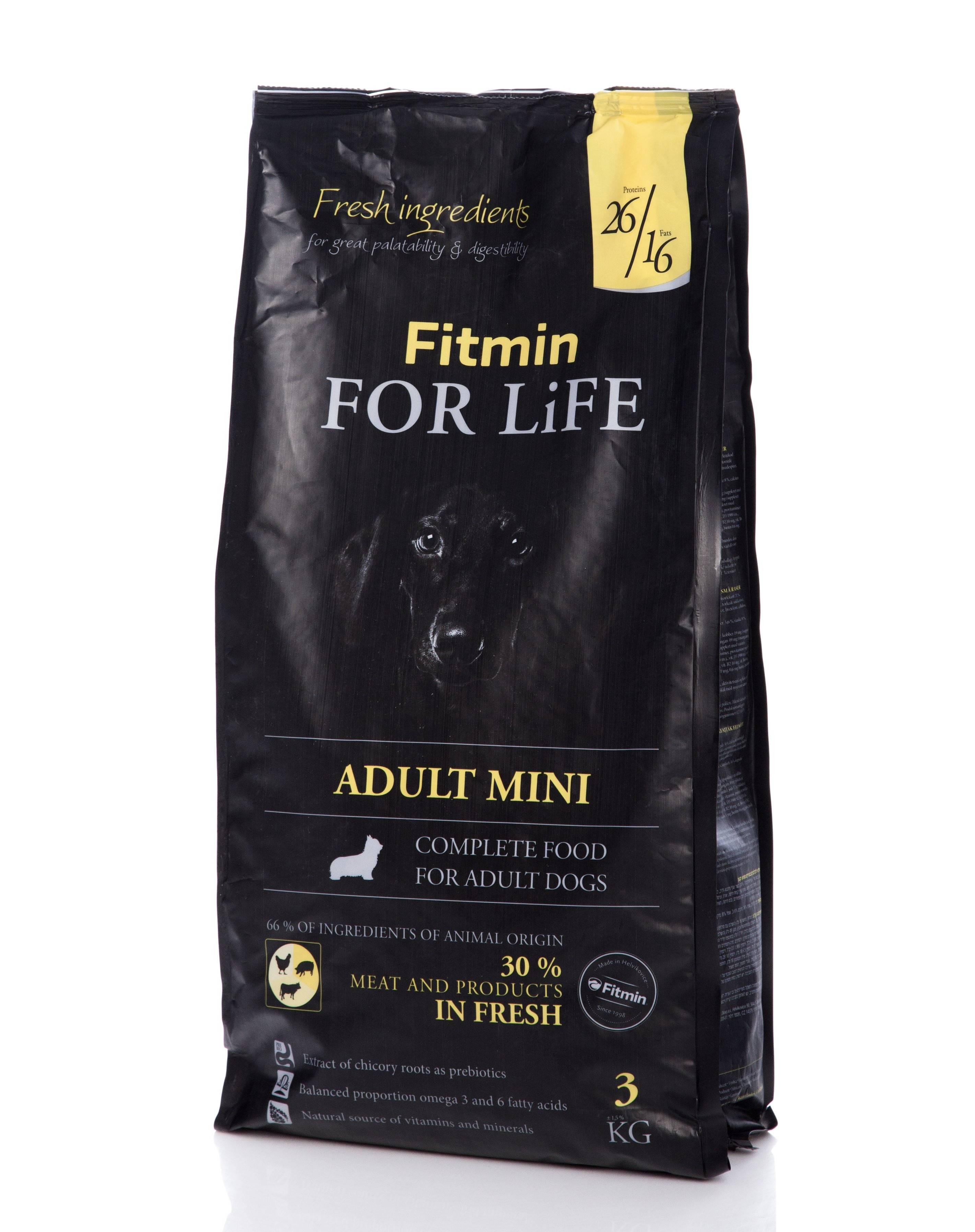 Корма для собак fitmin (фитмин): ассортимент, анализ состава корма, преимущества и недостатки, выводы о кормах