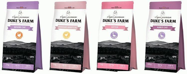 Корм для собак dukes farm: отзывы, разбор состава, цена