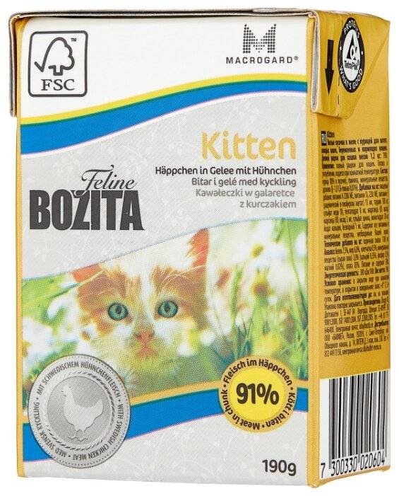 Корм бозита для кошек: отзывы и обзор состава