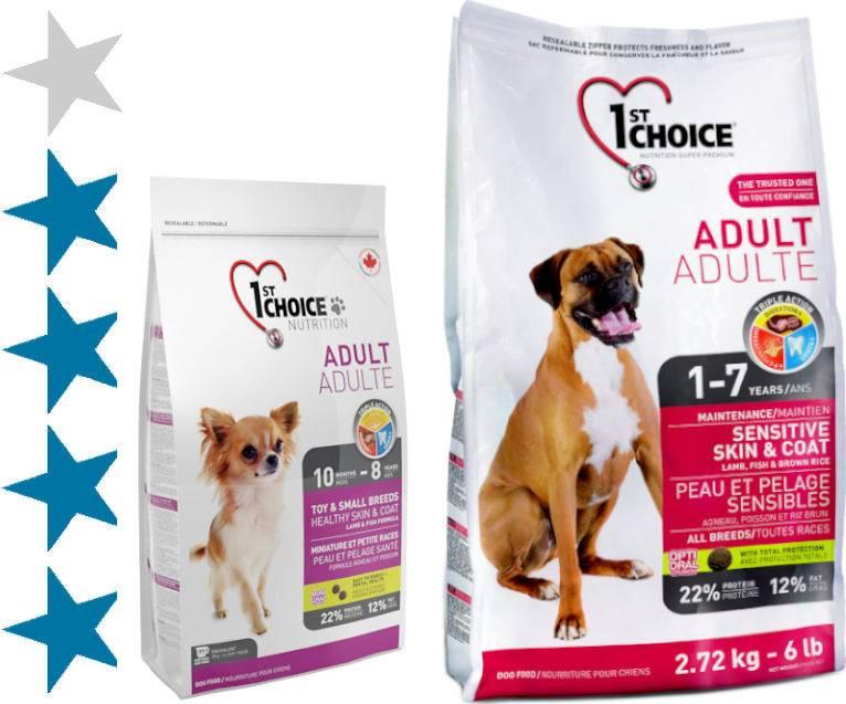 Корм 1st choice для собак: отзывы и обзор состава