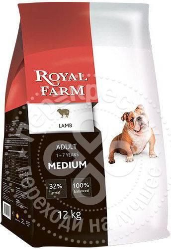 Royal farm (12 кг) сухой корм для собак adult medium chicken, купить по акционной цене , отзывы и обзоры.