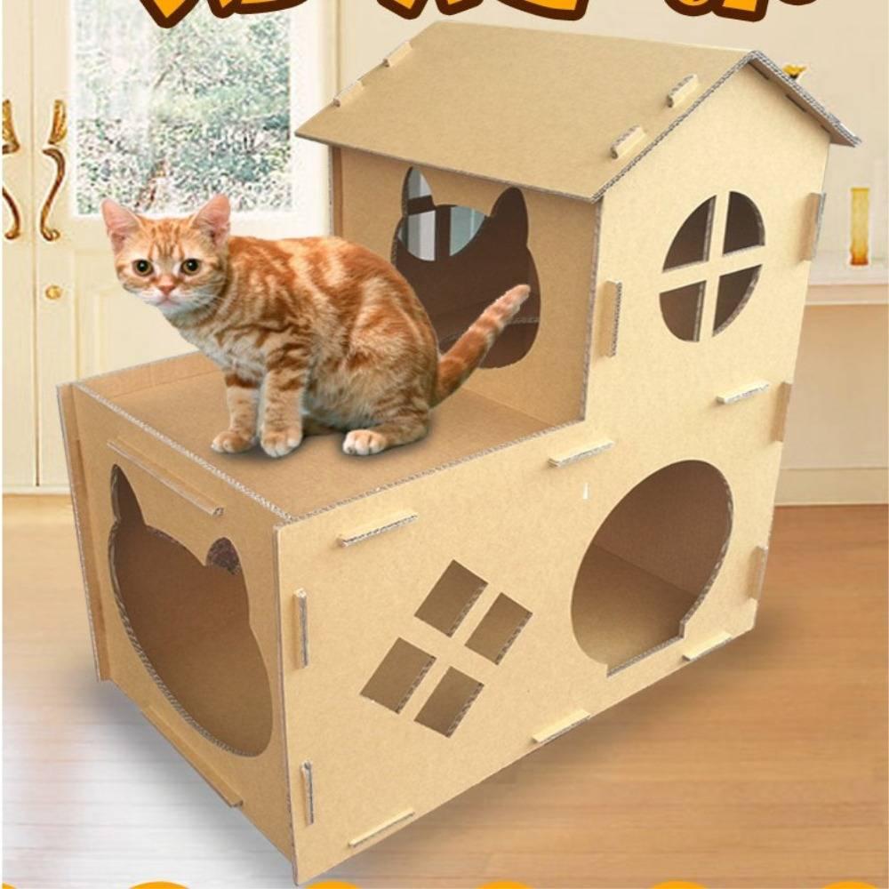 Домик для кошки своими руками - из поролона, коробок, мягкие и другие проекты, пошаговая инструкция по изготовлению, размеры и чертежи