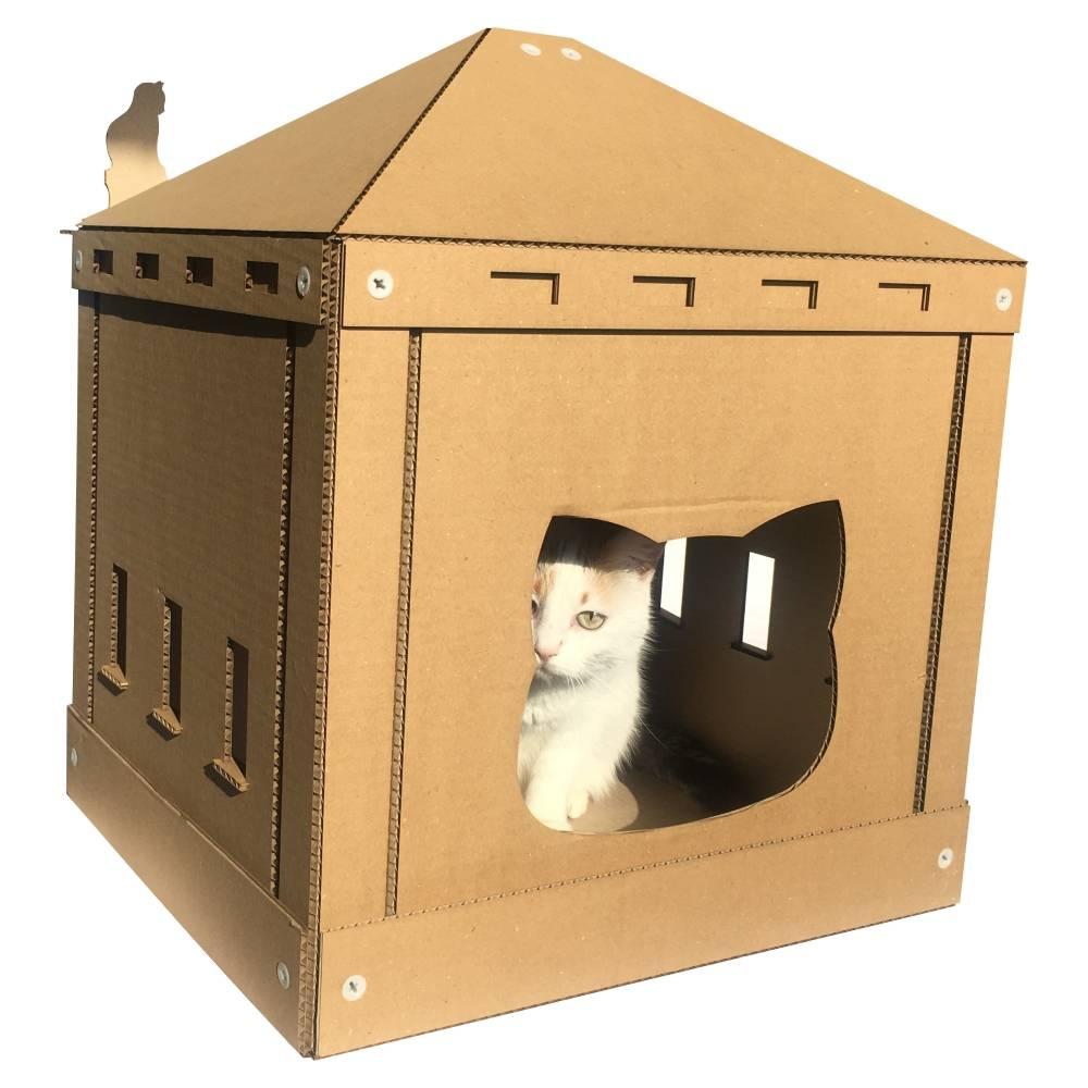 Домик для кошки своими руками: чертежи с размерами, пошаговая инструкция, фото, видео